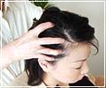 頭皮へのマッサージ